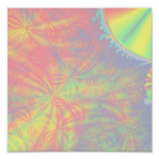 Éclat solaire fractale art colorée posters
