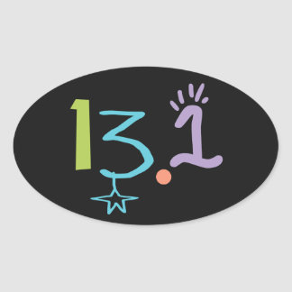 Eclectic 13.1 Half Marathon Sticker