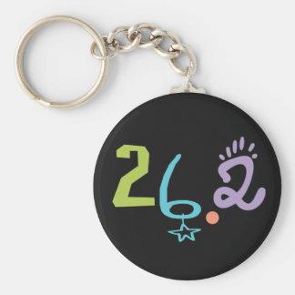 Eclectic 26.2 Marathon Basic Round Button Keychain