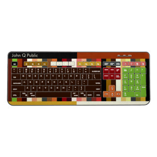 Eclectic Colors Wireless Keyboard