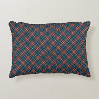 Eclectic Jewel Tone Plaid Accent Pillow