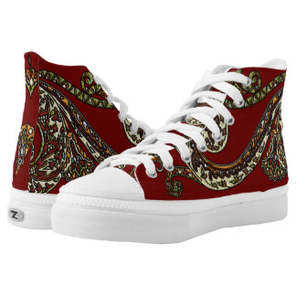 Eclectic Paisley Boho Gems High Tops