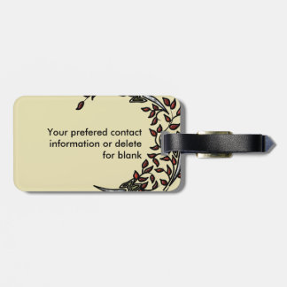 Eclectic Paisley Boho Gems Luggage Tag