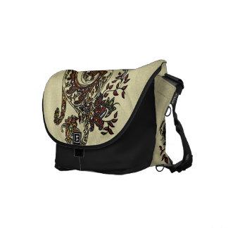 Eclectic Paisley Boho Gems Messenger Bags