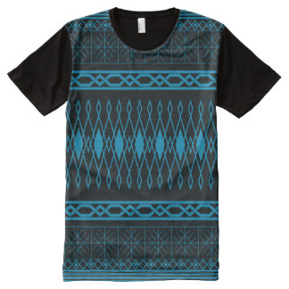 Eclectic Pattern (blue) All-Over-Print T-Shirt