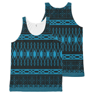 Eclectic Pattern (blue) All-Over-Print Tank Top