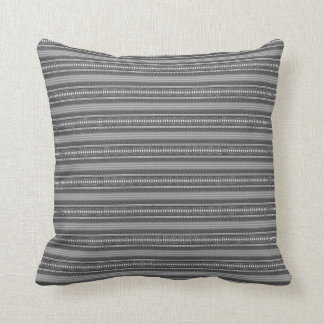 Eclectic Pattern (graphite) Throw Pillow