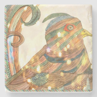 Eclectic pheasant coaster stone coaster