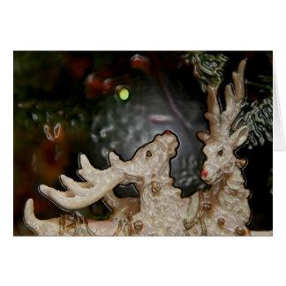 Eclectic Reindeer Holiday Greeting Card - jjhelene