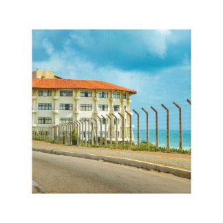 Eclectic Style Building Natal Brazil Canvas Print