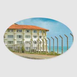 Eclectic Style Building Natal Brazil Oval Sticker