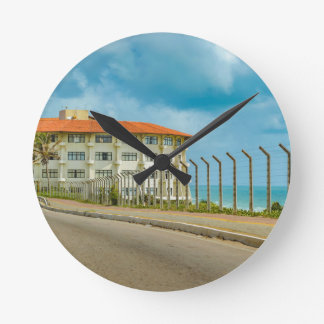 Eclectic Style Building Natal Brazil Round Clock
