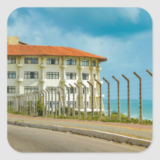 Eclectic Style Building Natal Brazil Square Sticker