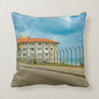 Eclectic Style Building Natal Brazil Throw Pillow
