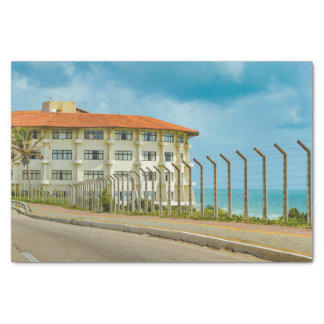 Eclectic Style Building Natal Brazil Tissue Paper
