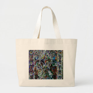 Eclectic Vintage Stained Glass Large Tote Bag