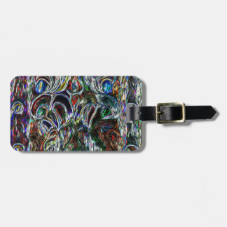 Eclectic Vintage Stained Glass Luggage Tag
