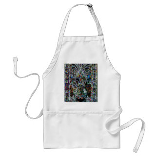 Eclectic Vintage Stained Glass Standard Apron