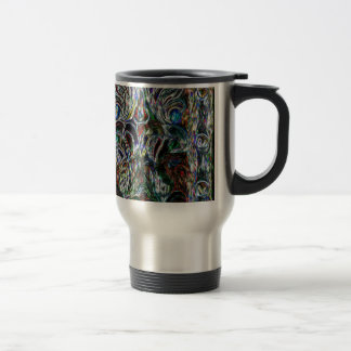 Eclectic Vintage Stained Glass Travel Mug