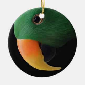 Eclectus Parrot Round Ceramic Ornament