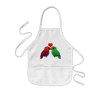 Eclectus Parrots in Love Kids Apron