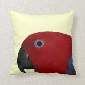 Eclectus Throw Pillow Red