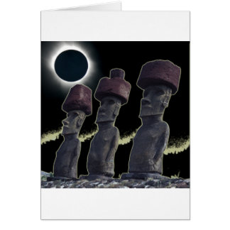 Eclipse 2010 Easter Island Card