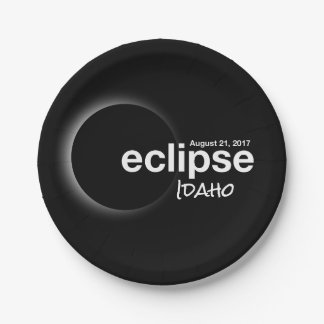 eclipse 2017 Idaho Paper Plate