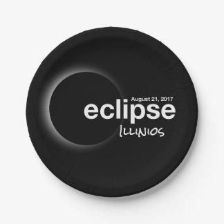 eclipse 2017 Illinios Paper Plate