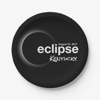 eclipse 2017 Kentucky Paper Plate