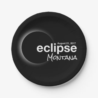 eclipse 2017 Montana Paper Plate