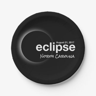 eclipse 2017 North Carolina Paper Plate