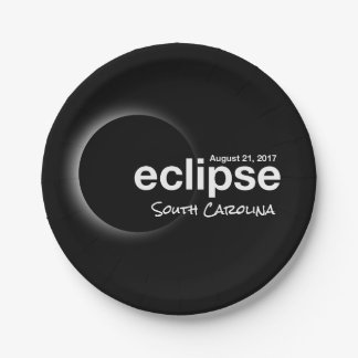 eclipse 2017 South Carolina Paper Plate