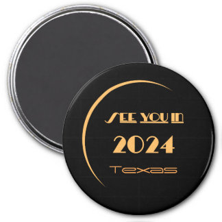 Eclipse 2024 Magnet Texas