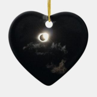 eclipse 2 ceramic ornament