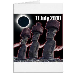 Eclipse Easter Island design 2 Card