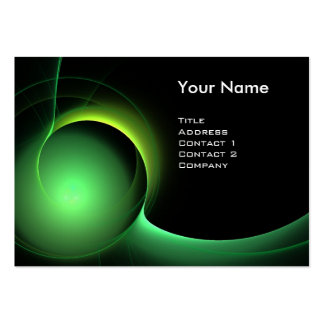 ECLIPSE MONOGRAM Vibrant black green Large Business Card