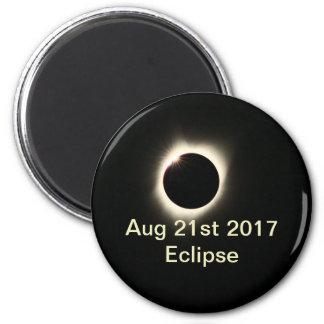 Eclipse  of 2017 Standard, 2¼ Inch Round Magnet