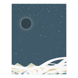 """Eclipse of Sun Art with """"Snakes"""" Letterhead"""