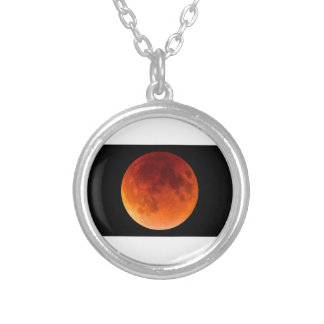 Eclipse of the Blood Moon Silver Plated Necklace