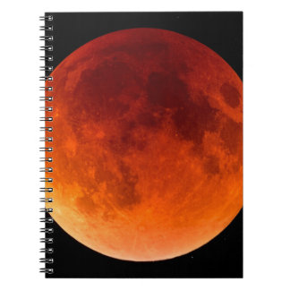 Eclipse of the Blood Moon Spiral Notebooks