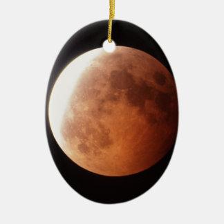 eclipse of the moon ceramic ornament