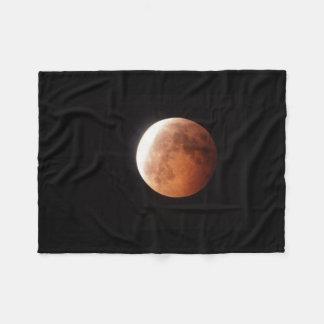 eclipse of the moon fleece blanket
