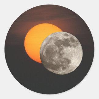 Eclipse Round Sticker