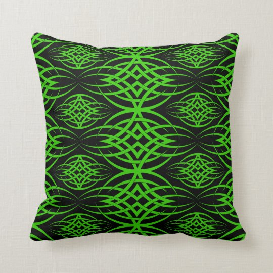 Eclipse Wallpaper ( Green ) Throw Pillow