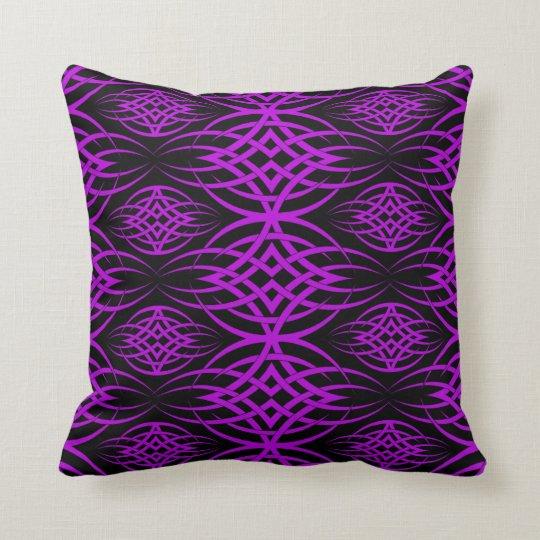 Eclipse Wallpaper ( Purple ) Throw Pillow