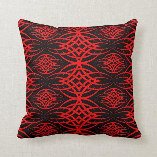 Eclipse Wallpaper ( Red ) Throw Pillow