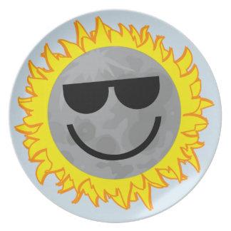 Ecliptomaniac Eclipse Plate - Sky Blue