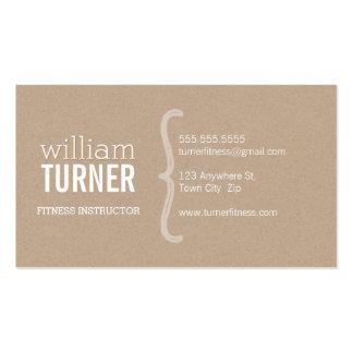 Eco à la mode minimal papier d'emballage des carte de visite standard