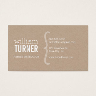 Eco à la mode minimal papier d'emballage des cartes de visite